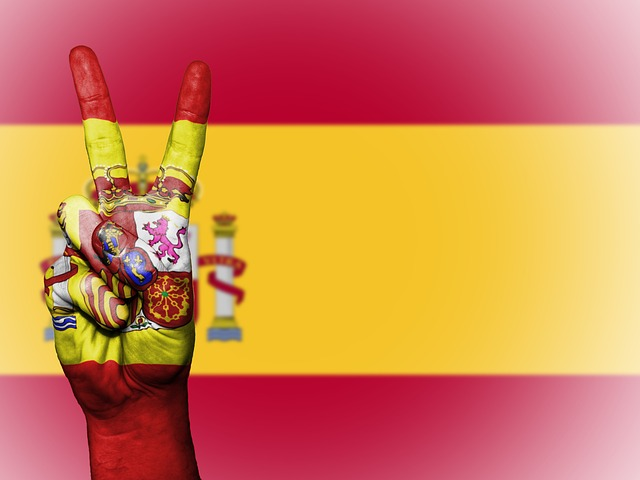 Spanien flag rot und gelb